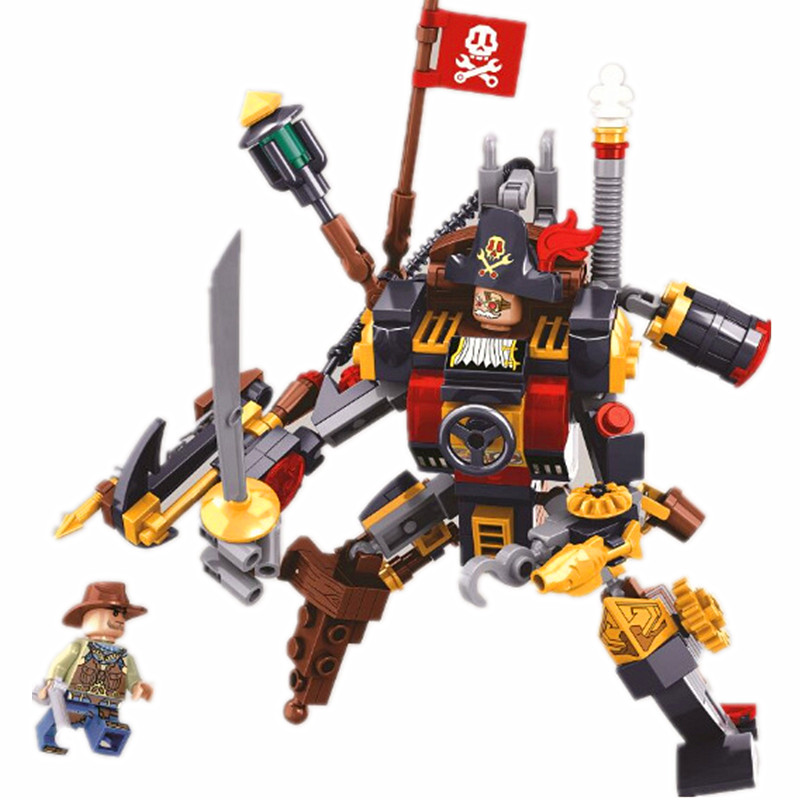 Age Of Steam Pirates Head Collar Battle Building Blocks Sets Bricks Classic Model Kids Gift Toys Marvel Compatible Legoings