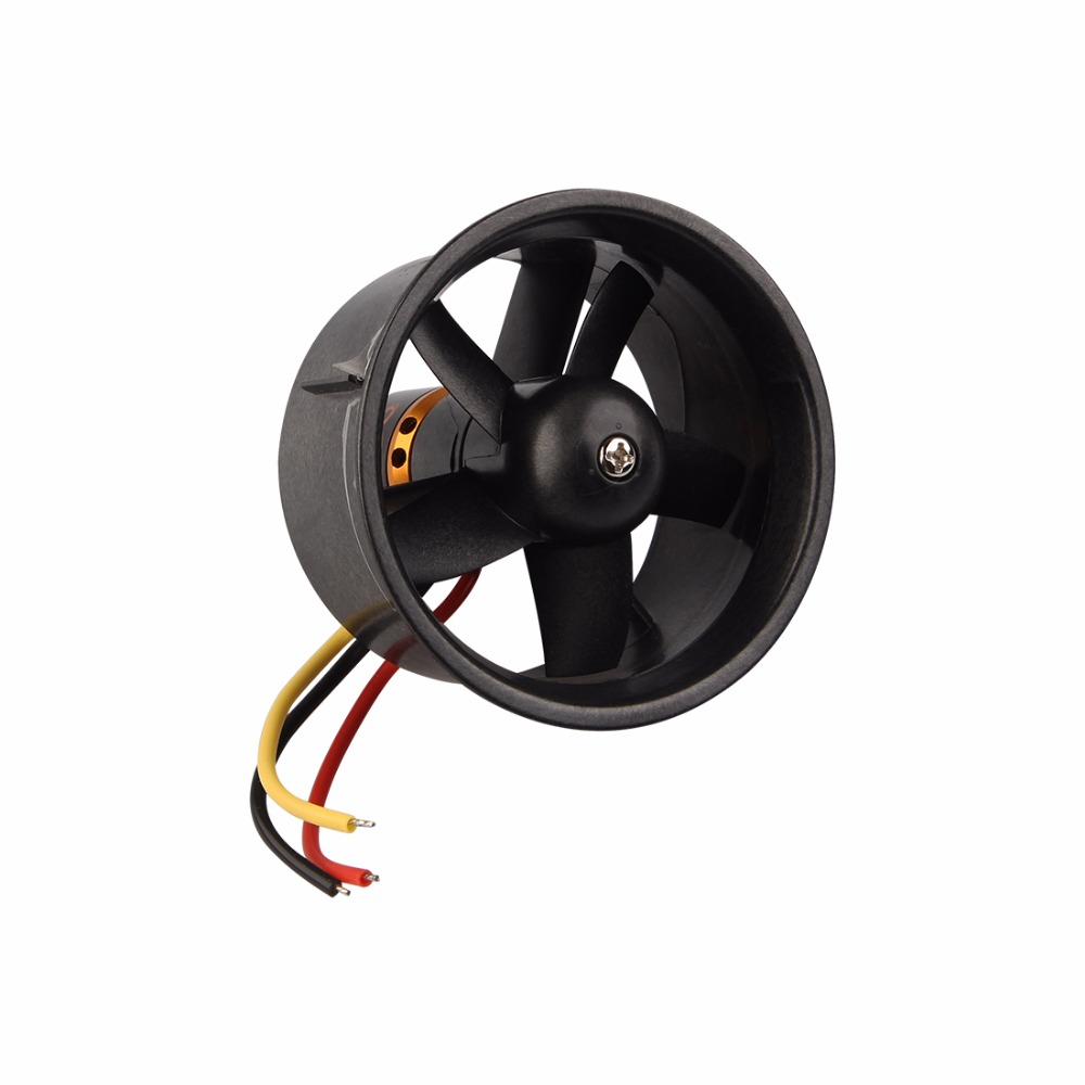 Weyland QX-Motor 64mm EDF 5 Blades Ducted Fan + QF2611 4500KV Brushless Motor for RC Airplanes qx motor qf2822d 2222 3000kv brushless motor for 70mm duct fan edf