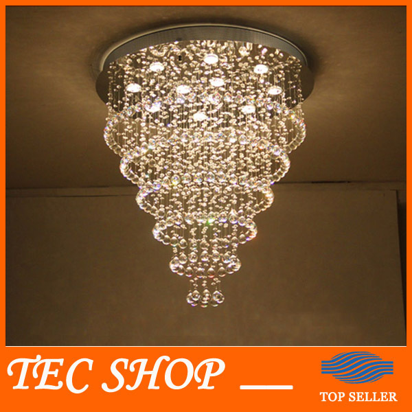 K9 Crystal Chandelier Rain Drop Crystal Ceiling Lamp with LED GU10 Bulbs Living Room Bedroom Restaurant Lights