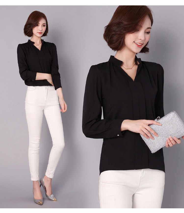 HTB1cTxYLpXXXXbRXVXXq6xXFXXXH - Long Sleeve Elegant Ladies Office Shirts Fashion Casual Slim Women