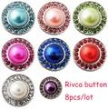 D02140 mix color oem odm venta caliente snap botón rivca botón para 18mm pulsera 8 joyería de botón a presión de color