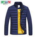cartelo brand 2016 new winter MEN's casual fashion stitching thick warm cotton padded JACKET DOWN paraks