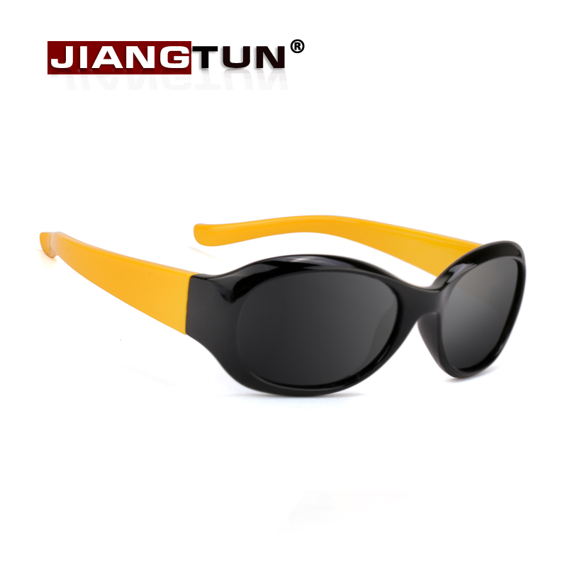 JIANGTUN Top Quality Baby Boys Girls Brand Kids Sunglasses Fit 3-12 Year TR90 Polarized Children Glasses Fashion Oculos polarsnow kids sunglasses 2017 polarized brand designer childrens sun glasses baby eyeglasses 100%uv protection oculos de sol