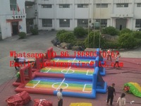 Factory direct inflatable slide, inflatable castle, inflatable football field, foam soccer field BYS539