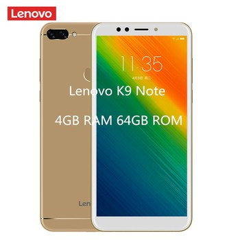 Lenovo K9 Note (L38012) 4G Smartphone 6.0'' Android 8.1 Qualcomm Snapdragon 450 Octa Core 1.8GHz 4GB 64GB 16.0MP Face ID 3760mAh