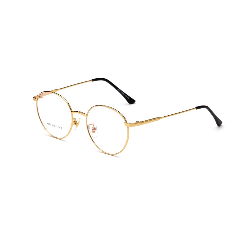 12271f58f5 Buy unisex woman mens round metal frame clear lens and get free shipping on  AliExpress.com