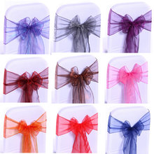 Meijuner 18cm*275cm Organza Chair Sashes Bow Cover Chair Sashes Tulle DIY For Weddings Events &Party Decoration(China)
