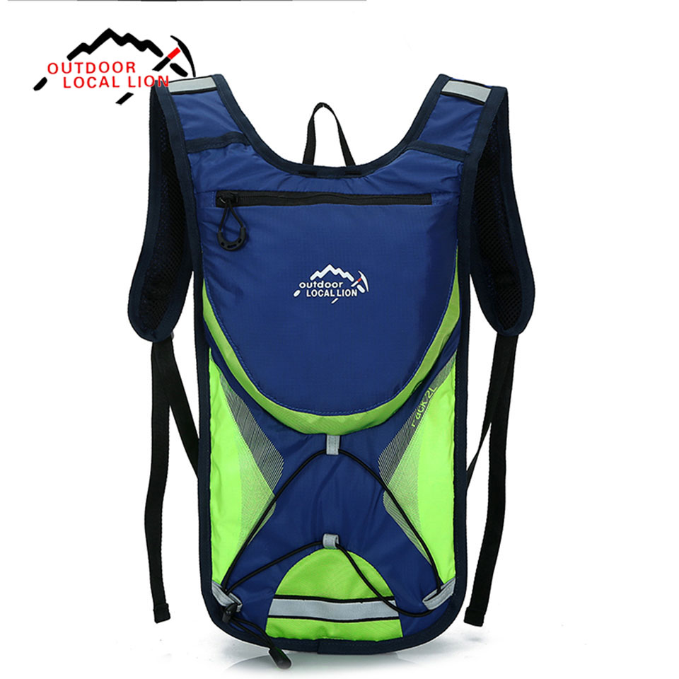 LOCAL LION 2L Nylon Outdoor Sports Bag for Men Women Gym Fitness Bag Leisure Backpack for Hinking Cycling Climbing Bags Pack harlem hl1087 outdoor sports tpu backpack water bag dark green 2l
