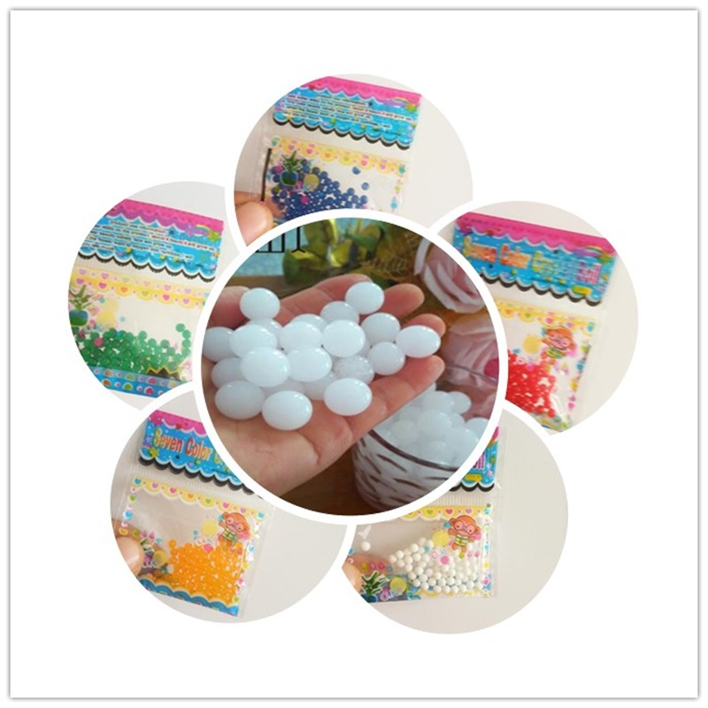 100 PCS all sorts of Color Bonsai Crystal mud samples jelly bead vase decoration soilless Cultivation Mix color packaging