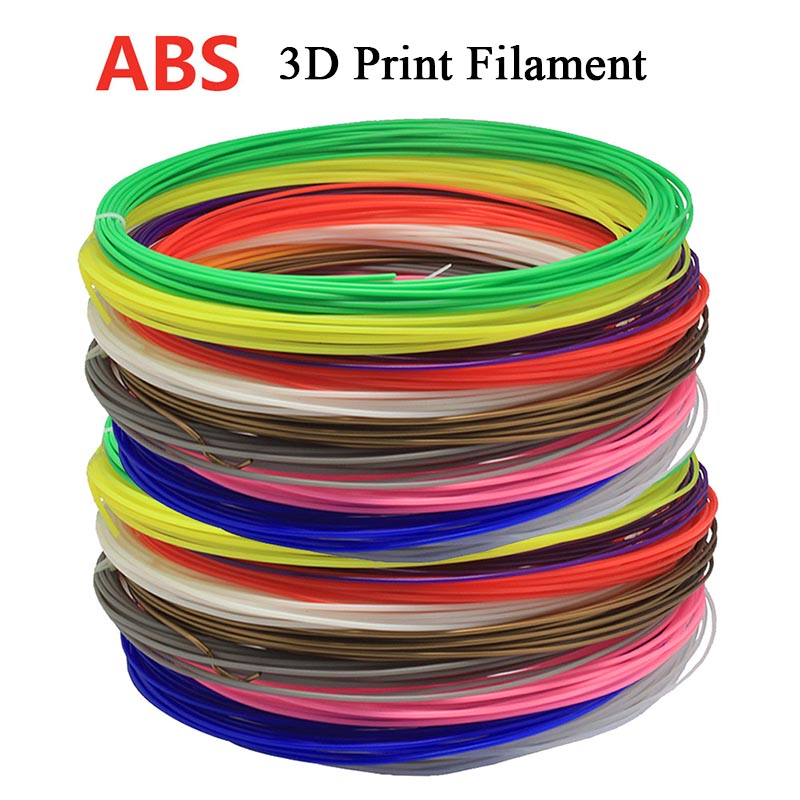 10M/pcs 36Style Color ABS Materials 3D Print Filament 1.75mm 10M For 3D Printer Pen