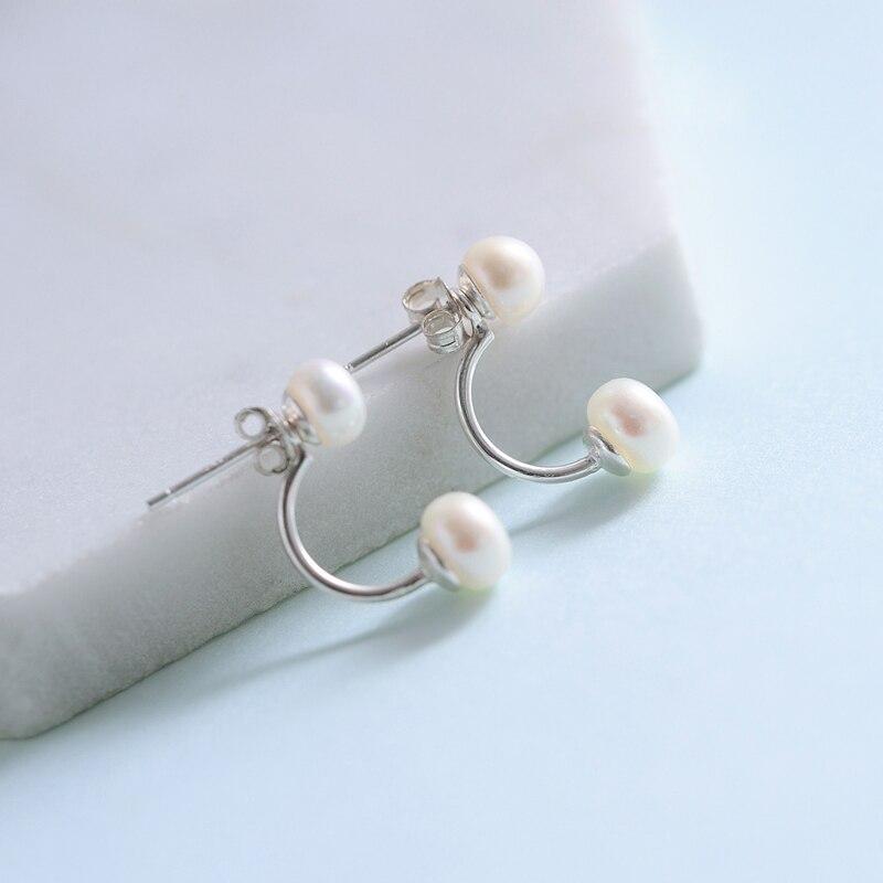 Boucles d'oreilles en argent sterling 925 avec perle en argent sterling pour femme, tempérament coréen, doux sauvage japonais et japonais