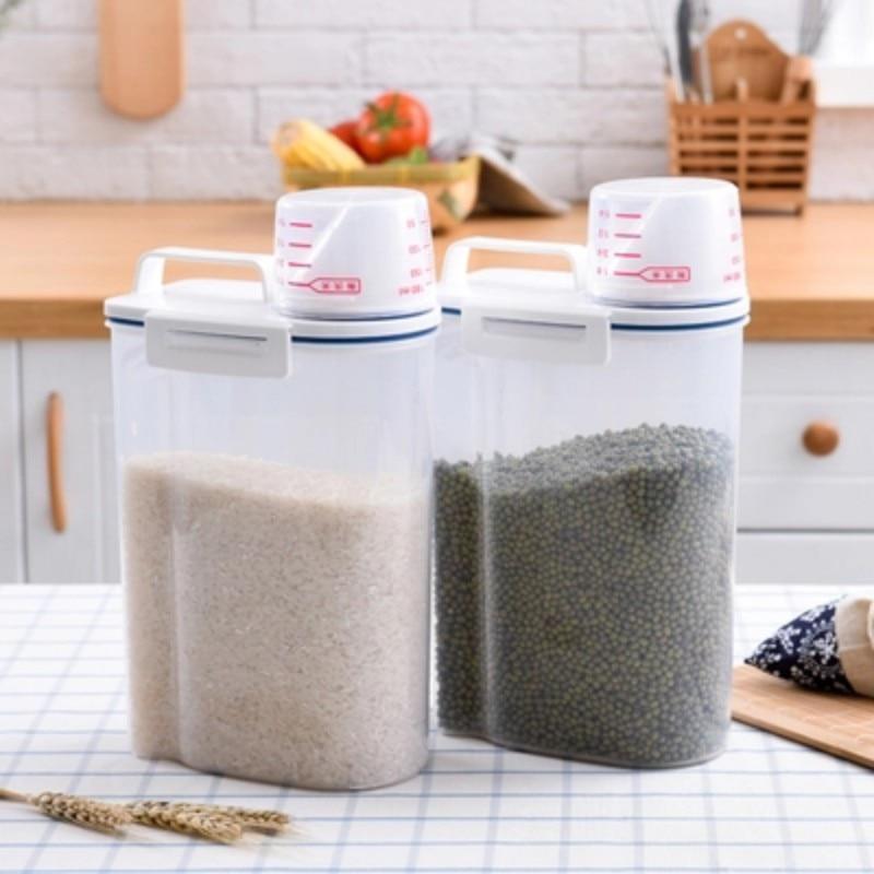 Kitchen Storage Organizer Grain Storage Container Rice Box Cereal