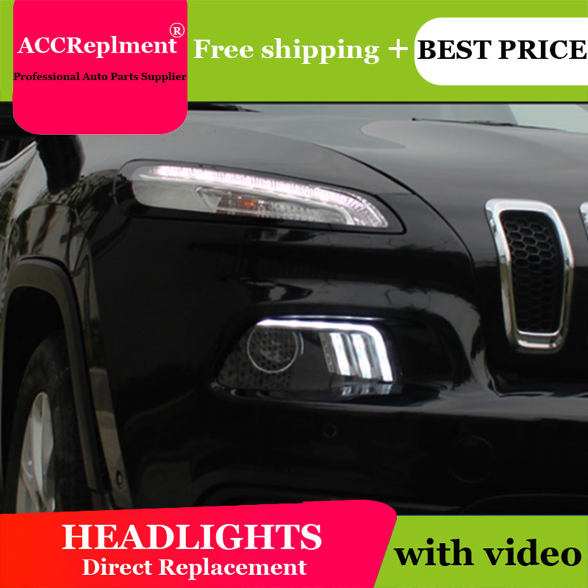 Car Styling LED Head Lamp for jeep Cherokee headlights 2016 2017 New jeep Cherokee LED H7