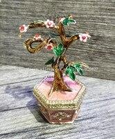 Bonsai Blossom Tree Trinket Box Ring Jewelry Keepsake Box Tree Bejeweled Collectible Trinket Jewelry Box