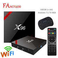 FANGTUOSI X96 X96W Smart tv box android 7.1 2 gb 16 gb Amlogic S905W Quad Core 4 karat 2,4 ghz WiFi media Player 1 gb 8 gb set-top box