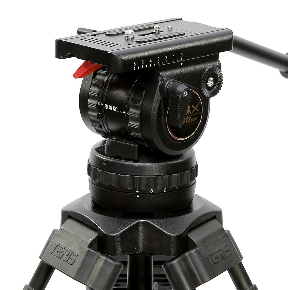 TRIX Teris TS120 TX-V12 Professional Tripod Fluid Head 100mm bowl Load 12KG for Video camcorder tripod HDV Film RED Scarlet Epic