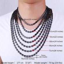 Rock Cable Link Chain Choker Necklace 6MM Gold/Silver/Black Color Rapper Hip Hop Chain Women/Men Jewelry N1113
