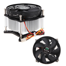 High Quality 3PIN DC 12V CPU Cooling Cooler PC Ultra Silent Fan For Intel LGA775 with Thermal Fin Copper Motor Best Price