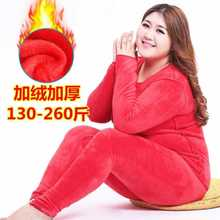 Plus velvet thick warm suit female autumn and winter large size 100 kg clothing pants fat MM bottoming