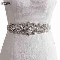 women's S233 Rhinestones Pearls Wedding evening dress sash Belts Bridal bride Belt Sashes for the party