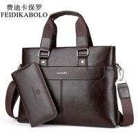 Feidikabolo mode hommes pu en cuir sac crossbady hommes sacs à main homme designer d'affaires porte-documents 14 pouce sac d'ordinateur portable épaule sacs