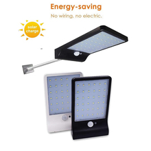 36 LED Outdoor Solar Light Waterproof PIR Motion Sensor Emergency Security Light Solar Powered Wall Lamp For Yard Garden Street 5pcs remote control solar panel powered road light 20w 30w 50w led street light outdoor garden path spot wall emergency lamp
