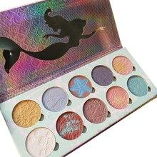 12 cores Shell Sereia Rendas Beleza Paleta de Sombra Marca de Maquiagem Maquiagem paleta de sombras Paleta de Sombras Pigmentadas