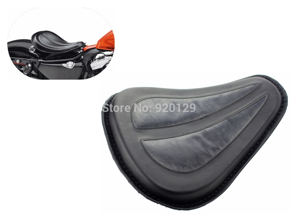 Motorcycle Black Solo Seat Saddle Seat For Harley Dyna Fatboy Sportster Softail XL1200 XL883 цена