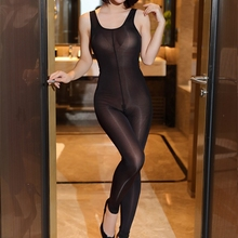 Sexy Open Crotch Women lingerie bodysuit body stocking Fetish Catsuit Clubwear Smooth Fabric transparent Hot erotic bodystocking women sexy open crotch bodysuit sheer lingerie double zipper fetish catsuit body transparent bodystocking sexy hot erotic suit