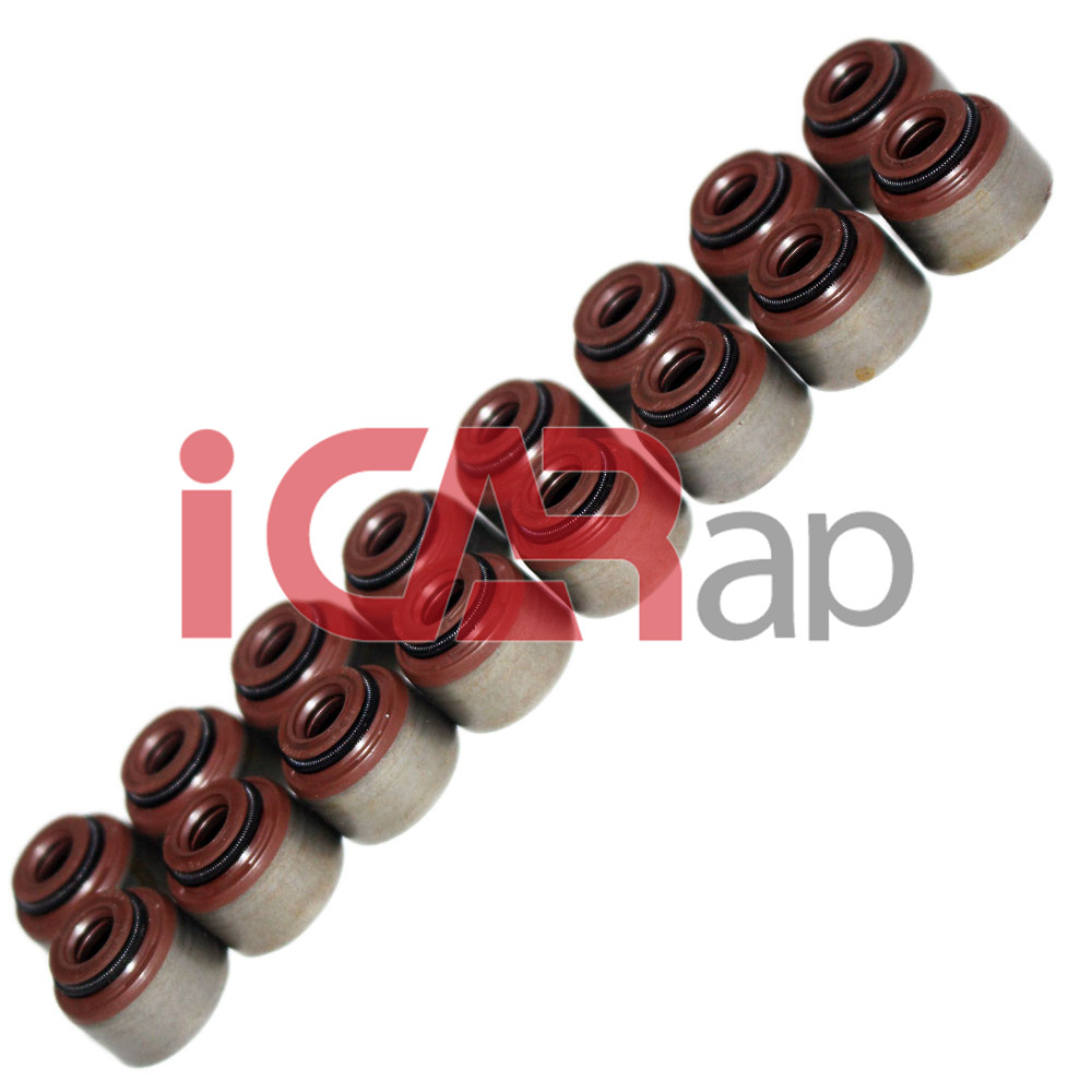 D15Z4 D16Y7 16pcs Valve Stem Oil Seal Valve Cover For HONDA CIVIC 16V Automotive Engine Gasket Parts 12210-PZ1-003/004