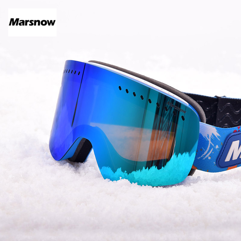 6b4ab55951bb Marsnow Ski Goggles Kids Double Layer Lens Glass Mask UV400 Anti fog Ski  Snow Children Skiing Glasses Winter Girls Boys Eyewear-in Skiing Eyewear  from ...