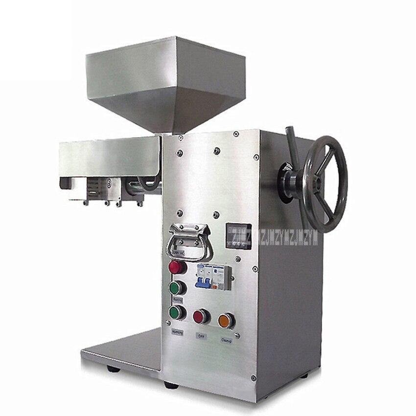 Presse à huile automatique 20 kg/h Machine en acier inoxydable presse à froid haricots sésame arachide tournesol presse à huile fabricant DL-ZYJ10B 2000 W