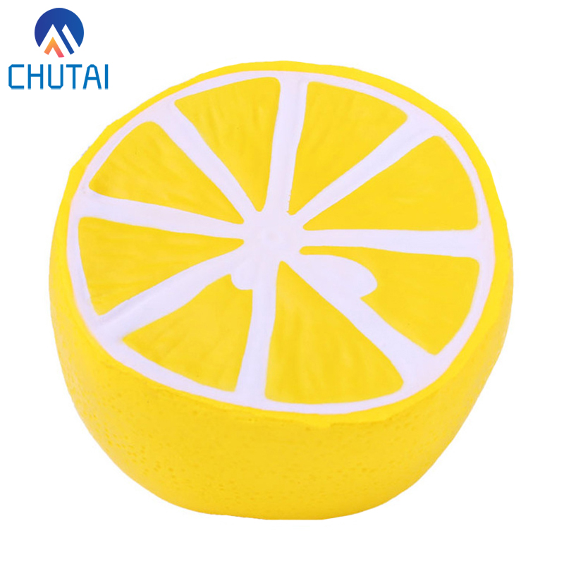 Jumbo Simulation Fruit Half Lemon Squishy Slow Rising Scented Soft Bread Cake Squeeze Kids Grownups Stress Relief Toy 10*10CM