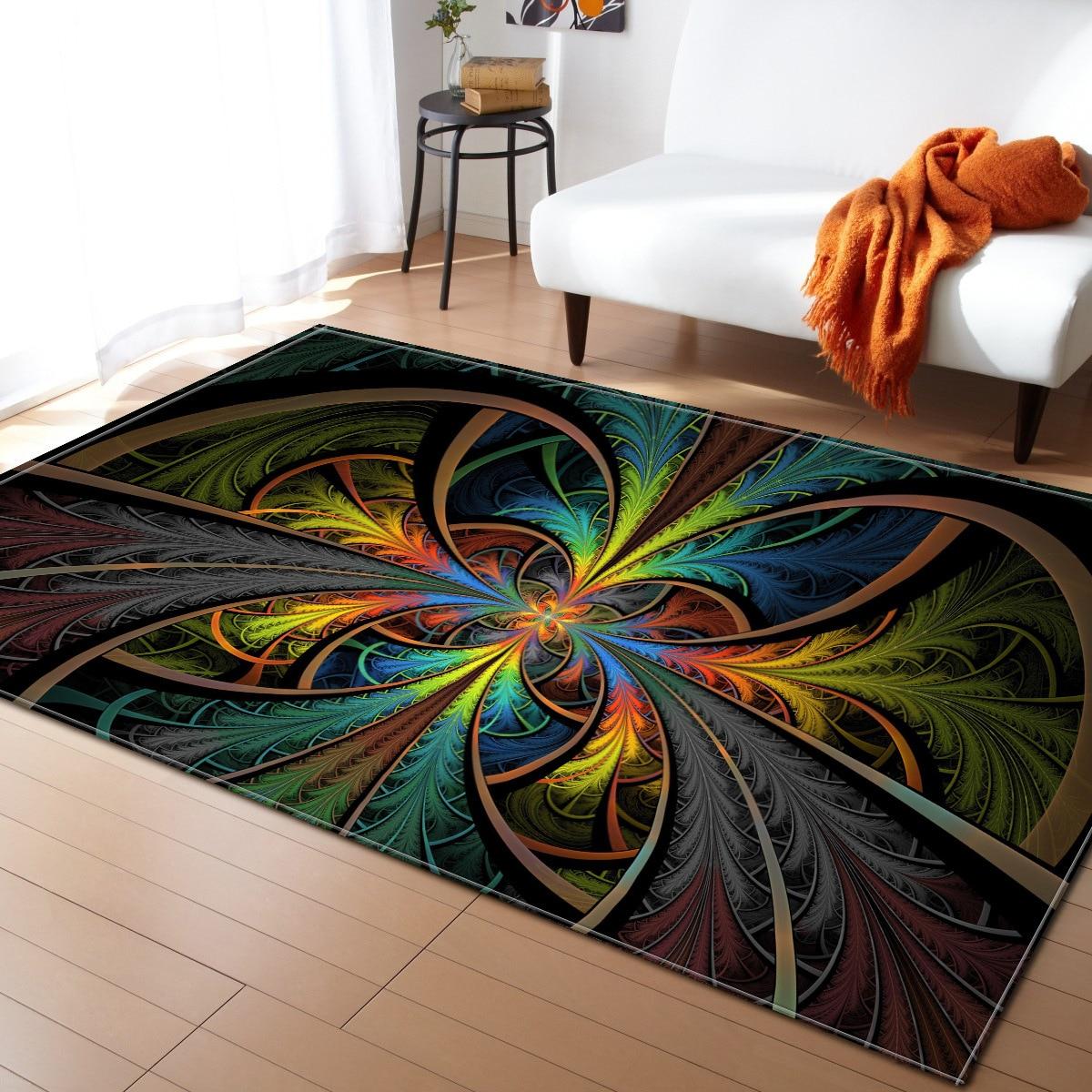 Table basse antidérapant tapis de sol Style nordique tapis pour salon maison tapis chambre moderne décorer tapis cuisine paillasson