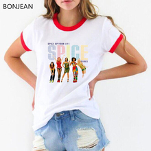 Summer 2019 Clothes women Spice girls print tee shirt femme white t shirt tops vogue graphic t shirts streetwear drop shiping