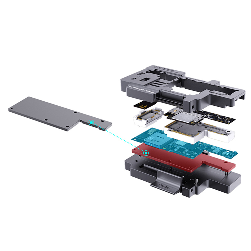 Image 5 - 2019 New Version Qianli iSocket Motherboard Tester for iPhone XS XSMAX Mainboard Fast Test Fixture HolderPower Tool Sets   -