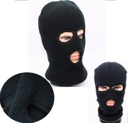 Fashion Novelty Women's Men's Winter Warm Black Full Face Cover Three Holes Mask Beanie Hat Cap Hot Sale Cai0328 fashion novelty women s men s winter warm black full face cover three holes mask beanie hat cap hot sale cai0328