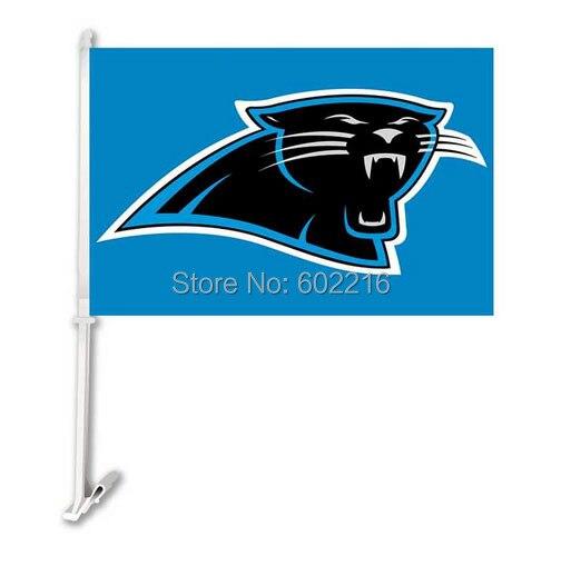 2 St Carolina Panthers Logo Auto Vlag In 2 St Carolina Panthers Logo