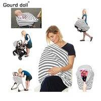 Capa de assento de carro do bebê dossel capa de enfermagem multi uso elástico infinito cachecol amamentação carrinho de compras capa alta capas de cadeira|Capas p/ amamentar| |  -