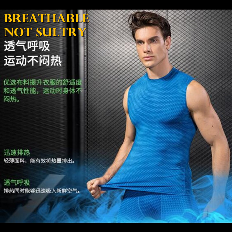 d58bc776 Men Pro Compression 3D Print Tight Snake Scale Shoulder Vest,High Elastic  Quick drying Wicking Sporting Fitness Shaper Tank Tops-in Tank Tops from  Men's ...