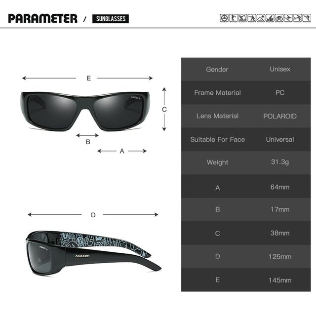 DUBERY Polarized Sunglasses Men's Aviator Driver Shades Male Sun Glasses For Men Night Vision Luxury Brand Designer Oculos