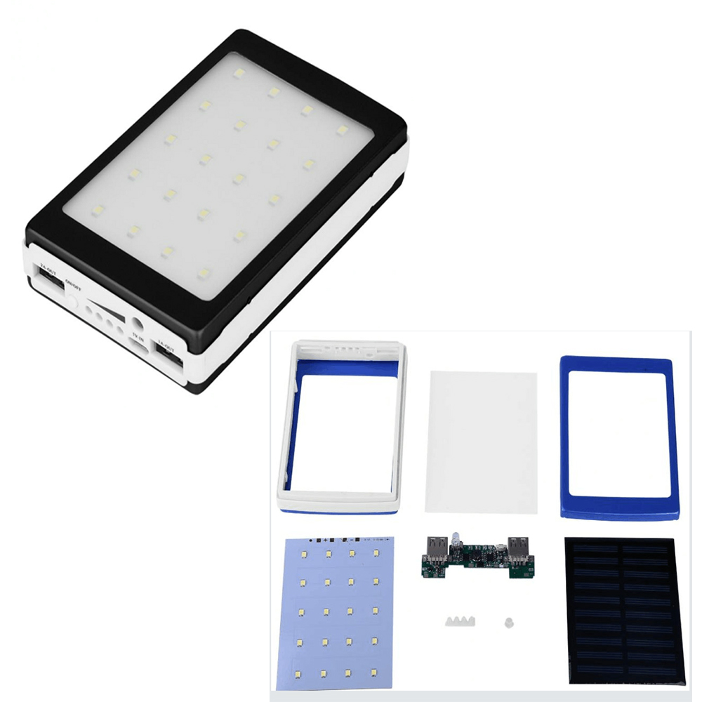 Diy Kit Need To Be Assembledno Battery Solar Charger With Overcharge Protection Electronic Storage Box Dual Usb 18650 Power Bank Case In Cells From Consumer Electronics On