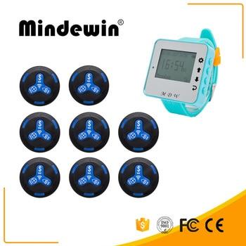 Mindewin Wireless Restaurant Queue Waiting Service System Long Range Receiver Wrist Watch With 8 Multifuncation Calling