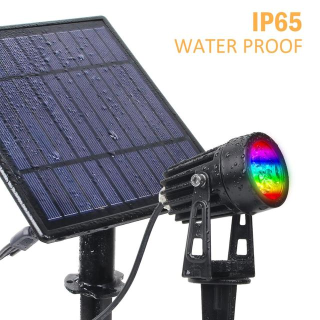 T-SUNRISE LED Solar Garden Light IP65 Waterproof RGB Solar Lamp Outdoors Solar Spotlight For Garden Decoration Wall Light 5