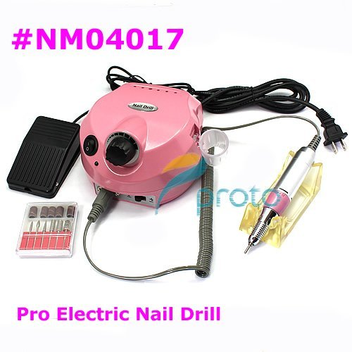 Freeshipping-Pink NEW Electric Nail Drill for Nail Art Manicure Pedicure Salon and Home Use,110/220V SKU:E0001
