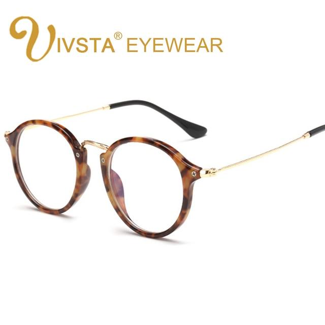 IVSTA Round Glasses Mens Tortoise Eyeglass Frames Metal Alloy TR ...