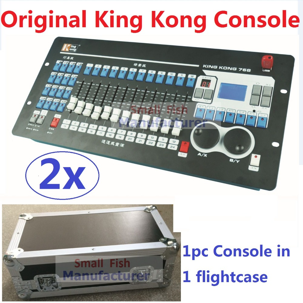 2xLot Free shipping King Kong 768 DMX Console 60 Scenes Professional Stage Lighting Controller DJ Disco DMX512 Lights Equipment стоимость