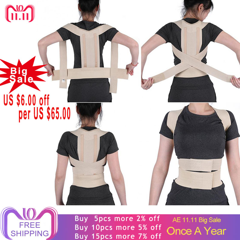 Back Braces Posture Corrector Brace Spine Support Belt Women Men Shoulder Lumbar Back Corset Orthopedic Posture Correction Belt цена