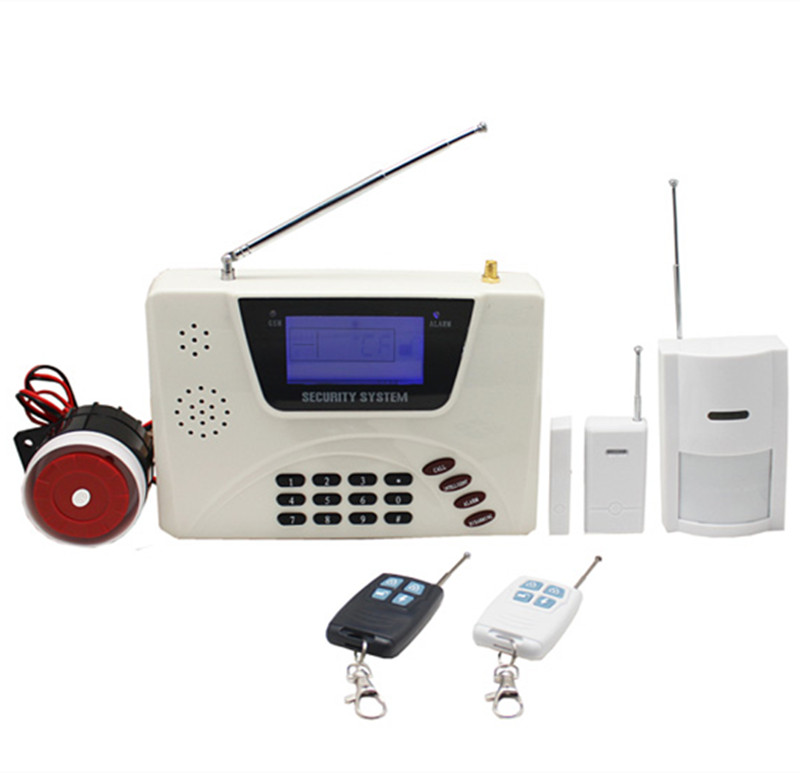 850/900/1800/1900 Mhz Dual network GSM+PSTN burglar alarm system dual band gsm pstn burglar alarm system
