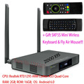 ZIDOO X9S Android TV BOX 2 GB 16 GB + OpenWRT (NAS) Realtek RTD1295 2.4 GHz/5.0 GHz WiFi Bluetooth 4.0, SKF5S Fly Air Ratón Del Teclado